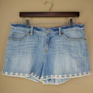 Lucky Brand Boardwalk Star Hem Denim Shorts